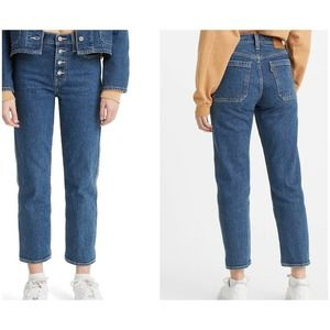 New Levi's wedgie highrise crop straight leg jeans